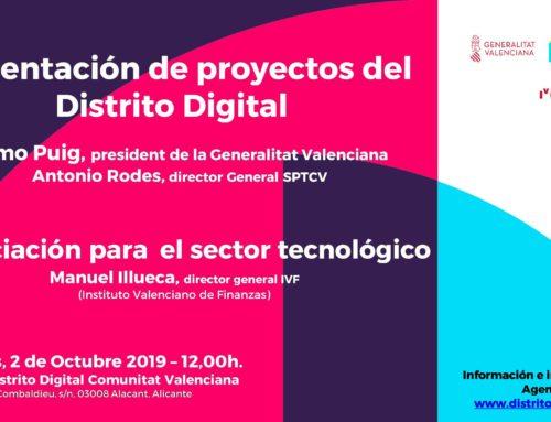 Presentación proyectos Distrito Digital y financiación sector tecnológico