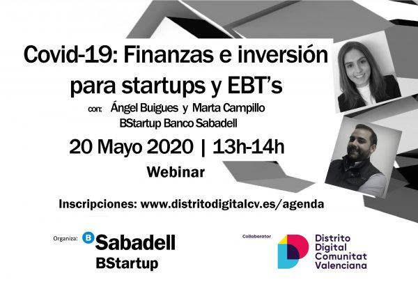 Webinar Banco Sabadell Distrito Digital financiación COVID19